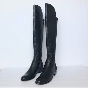 Renvy Black Rodley Over The Knee Boots Size 5.5 M